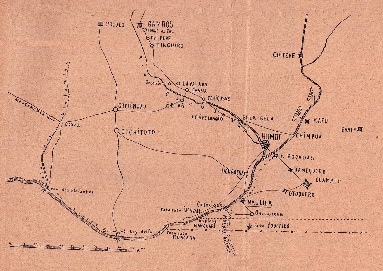 "Sul de Angola - Campamha de 1914. Augusto Casimiro ""Naulila"""